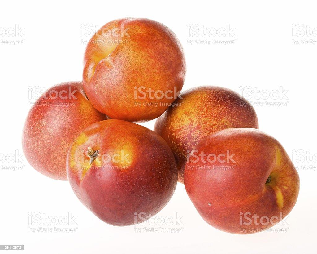 Fresh nectarines royalty-free stock photo