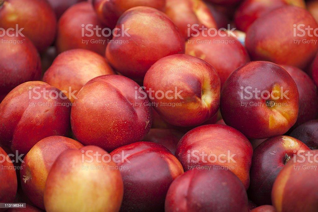 Fresh nektarine on the market stock photo