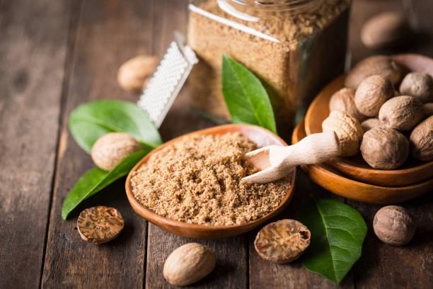 Fresh nutmeg Fresh nutmeg nutmeg stock pictures, royalty-free photos & images