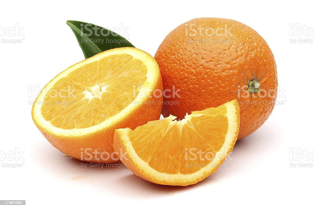 Fresh Orange and slices stock photo