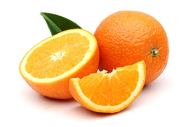 Fresh Orange and slices stock photo