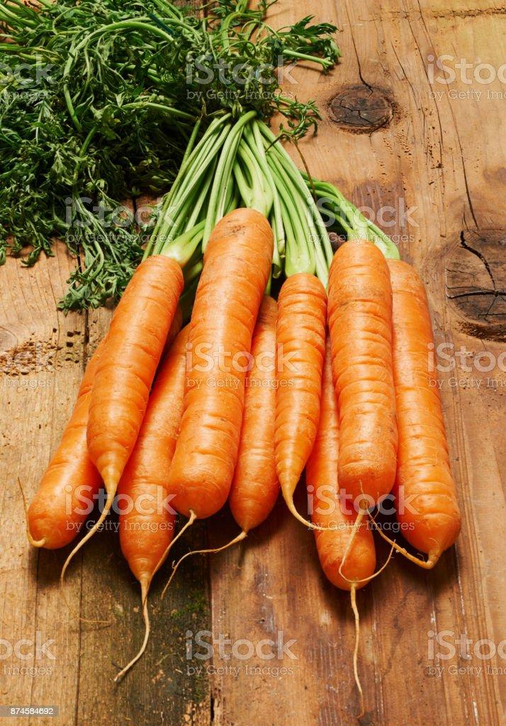 Fresh orange carrots stock photo