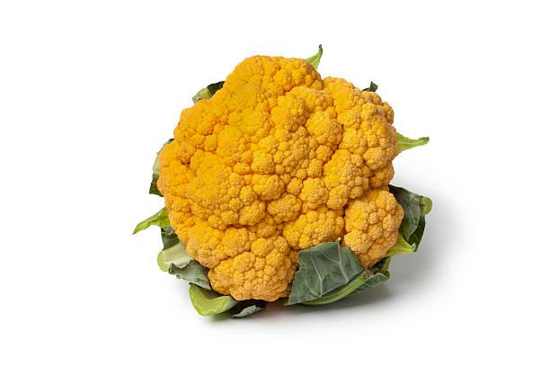 Fresh Orange cauliflower stock photo