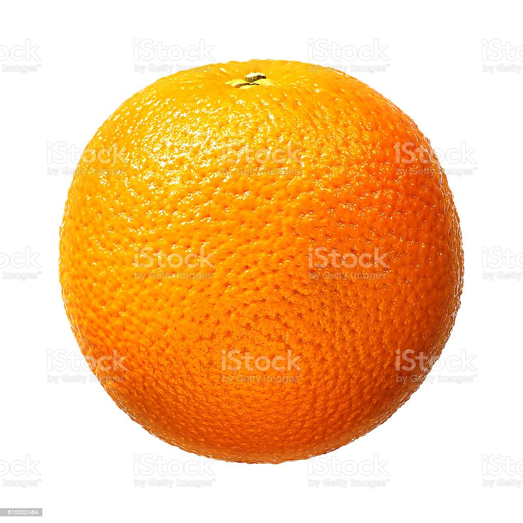 Fresh orange fruit isolated on white background. With clipping path stock photo
