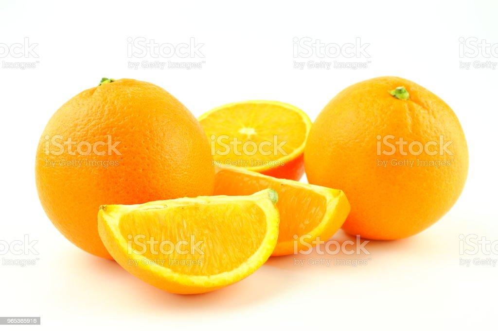fresh orange fruits isolated on a white background zbiór zdjęć royalty-free