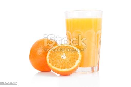 Picture of freshly squeezed orange juice.