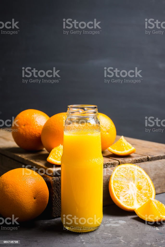 Fresh orange juice. Selective focus. royalty-free stock photo
