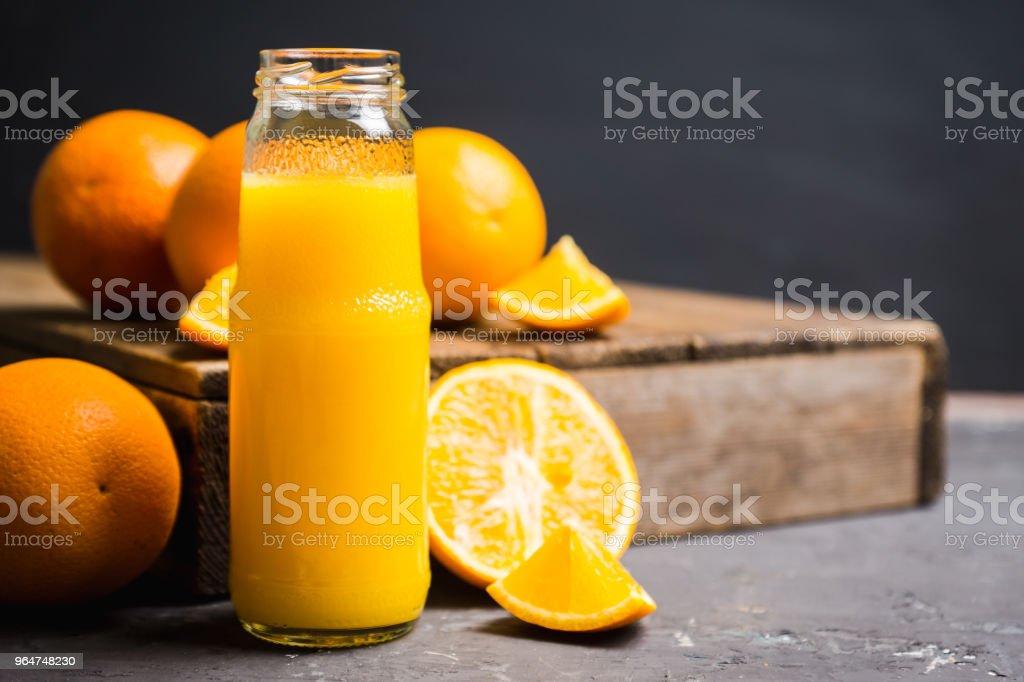 Fresh orange juice. Selective focus. royalty-free stock photo