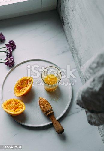 Fresh Orange Juice Squeezed In glass