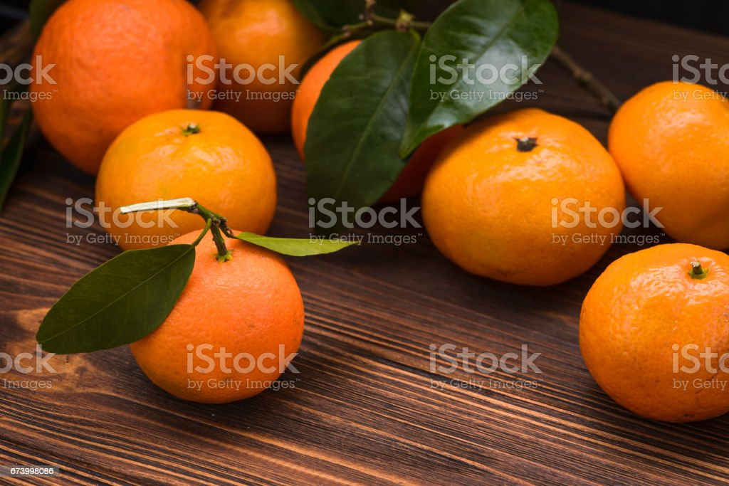 fresh orange mandarins royalty-free stock photo