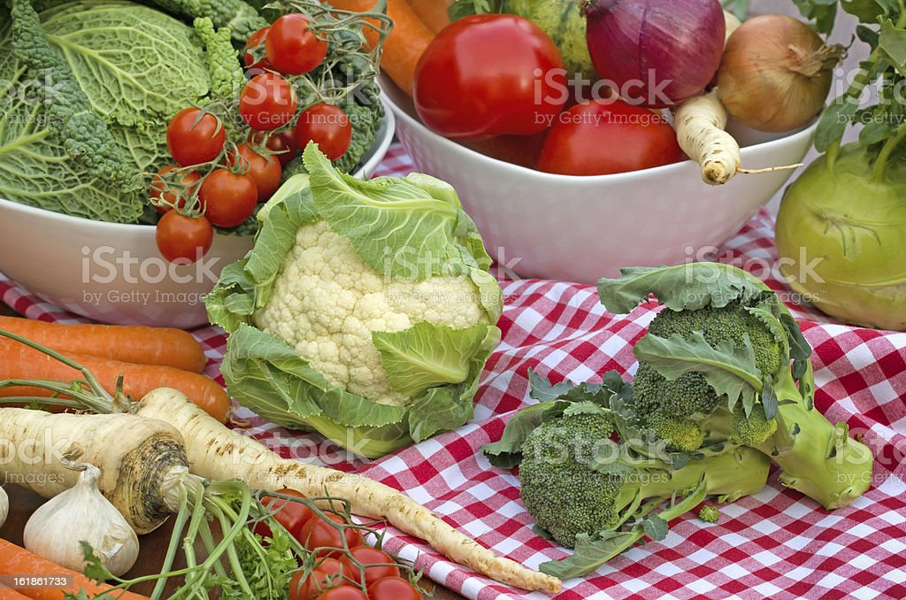 Fresh organic and quality vegetables royalty-free stock photo