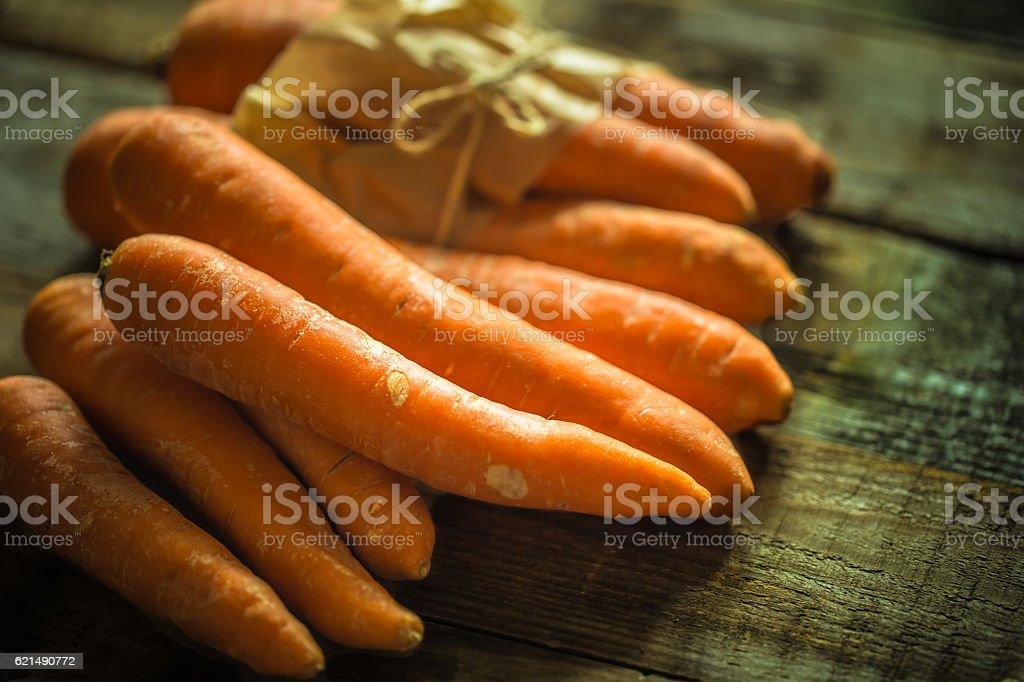 Biologica carote fresche  foto stock royalty-free