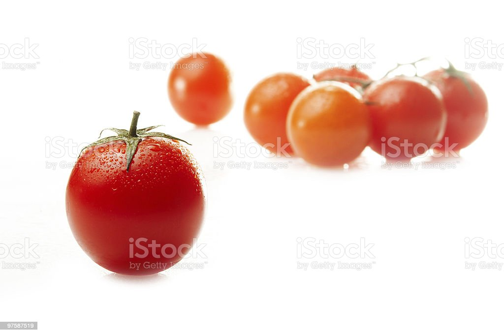 Fresh organic cherry tomato royalty-free stock photo