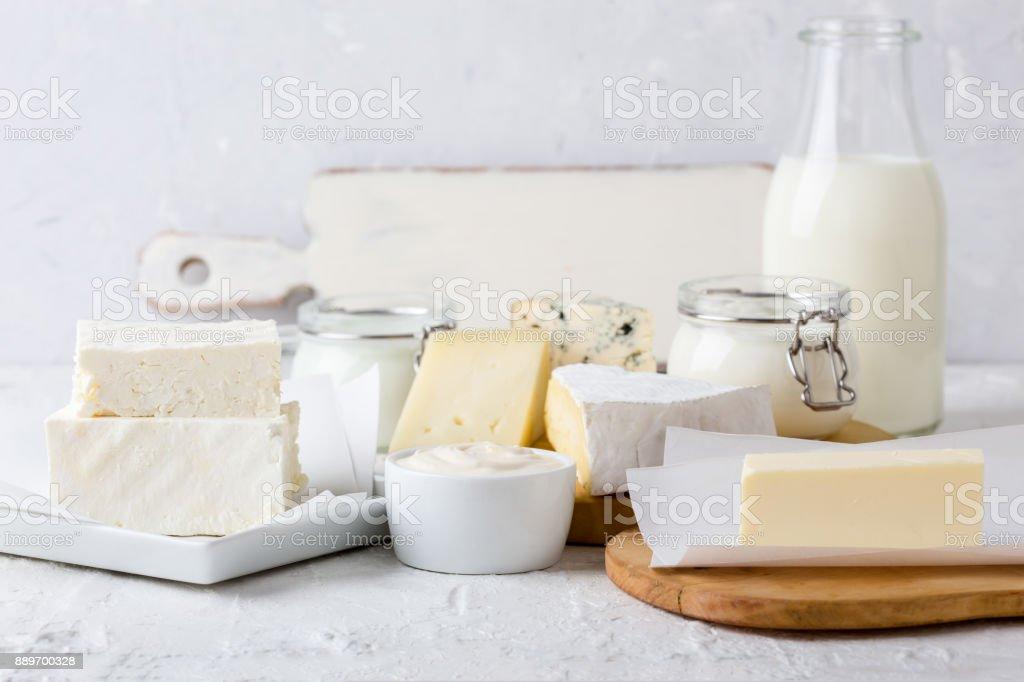 Frische Bio-Milchprodukte – Foto