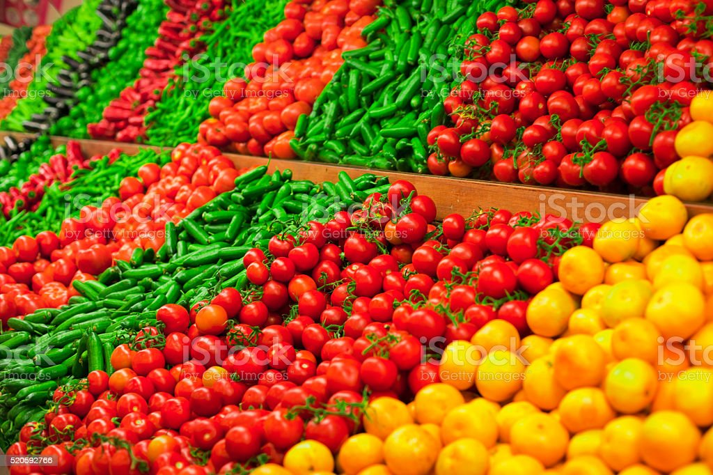 Fresh organic food stock photo