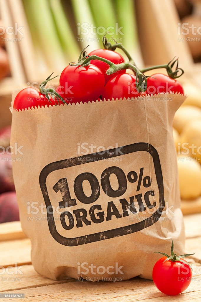 Fresh organic fruit and vegetables royalty-free stock photo