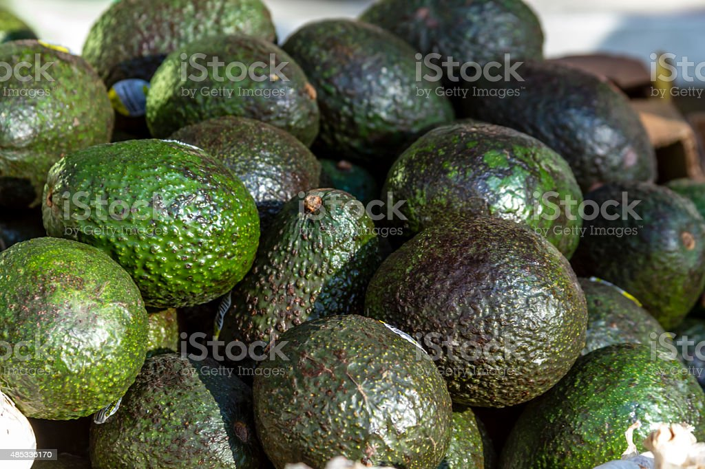 Fresh Organic Fruits and Vegetables at Farmers Market stock photo