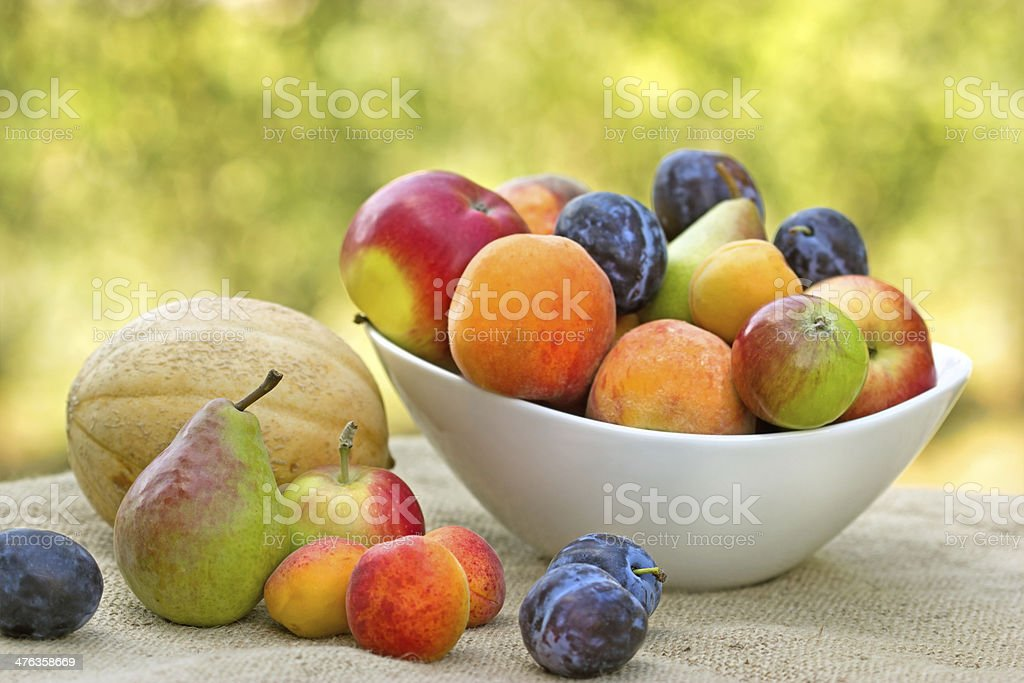 Fresh organic fruits stock photo