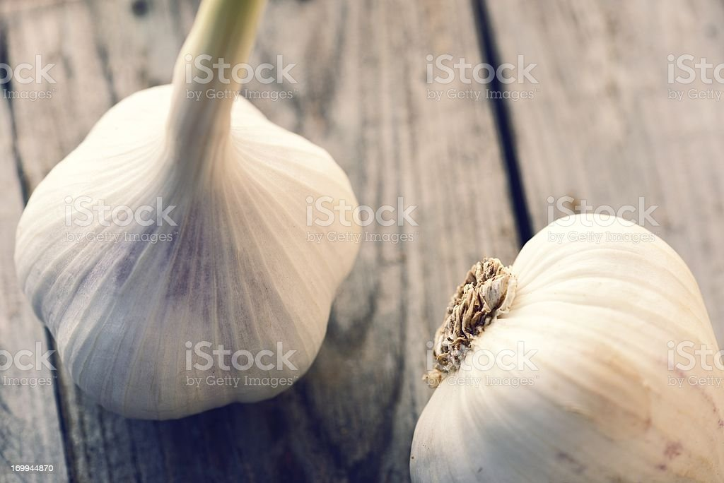 Fresh Organic Garlic royalty-free stock photo