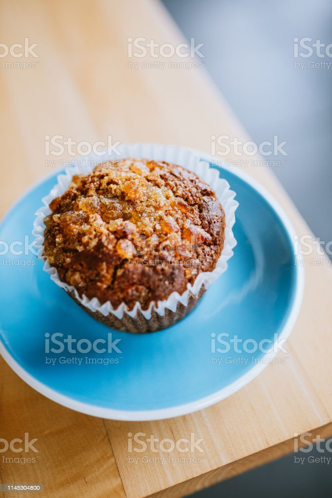 Homemade baked goods on a plate, made with whole grains and organic...