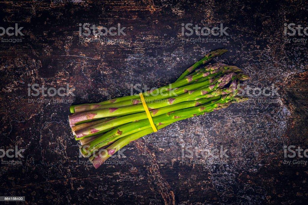 Fresh Organic Green Asparagus royalty-free stock photo