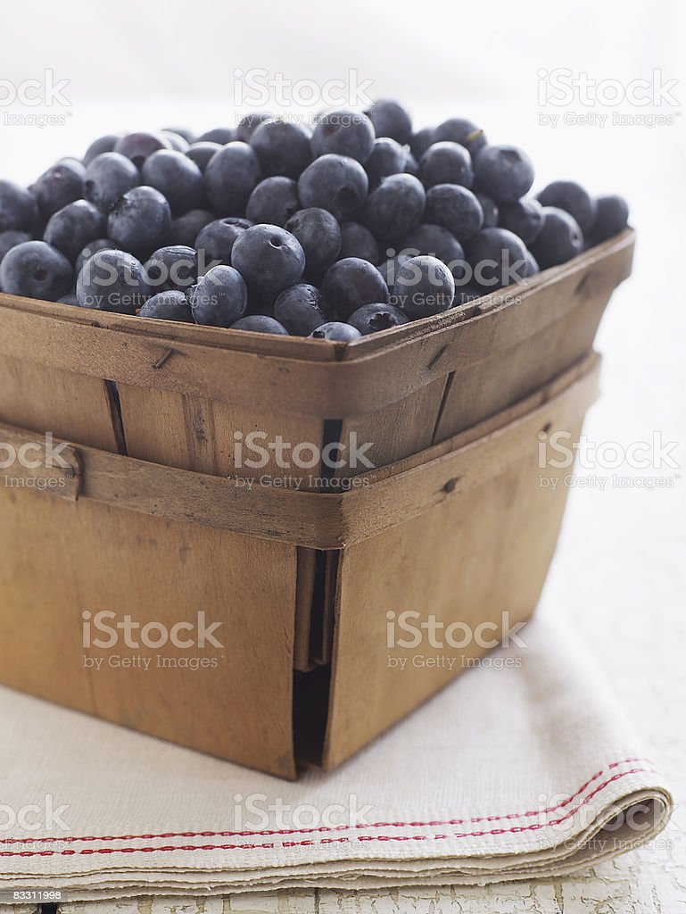 Fresh organic Maine blueberries royalty-free stock photo