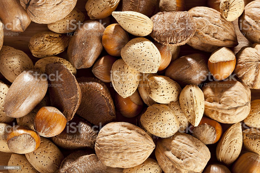 Fresh Organic Mixed Nuts royalty-free stock photo