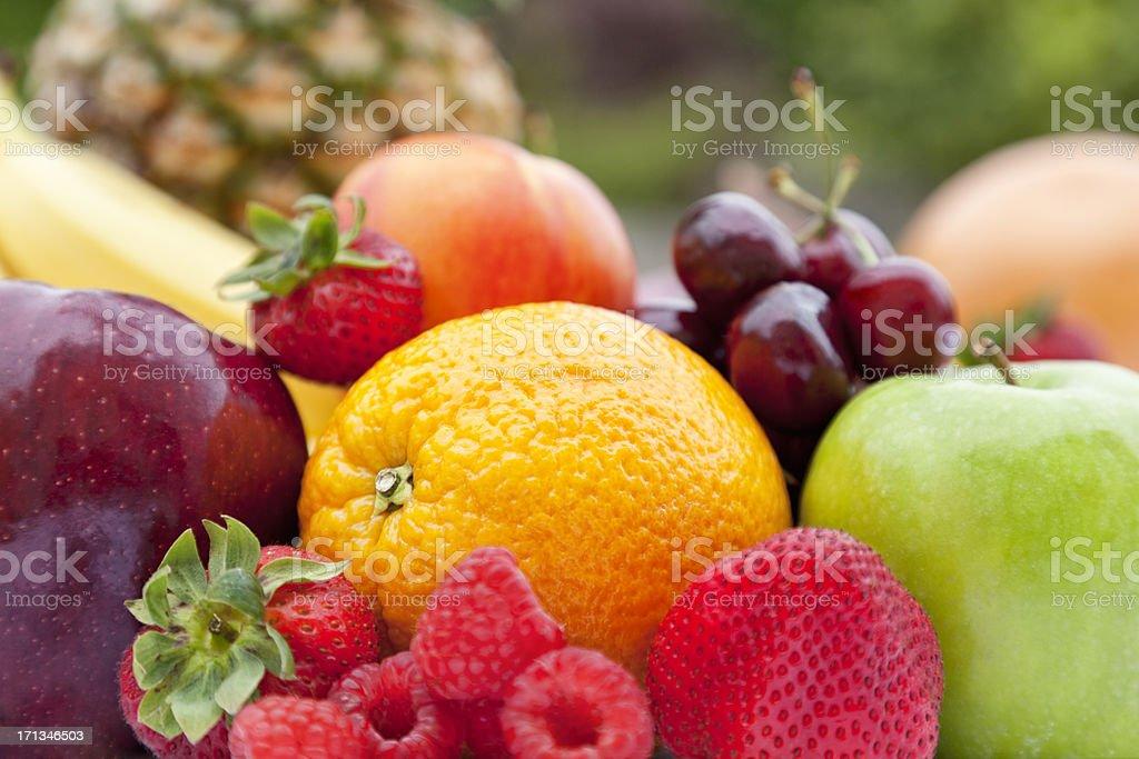 Fresh Organic Produce Outdoors royalty-free stock photo