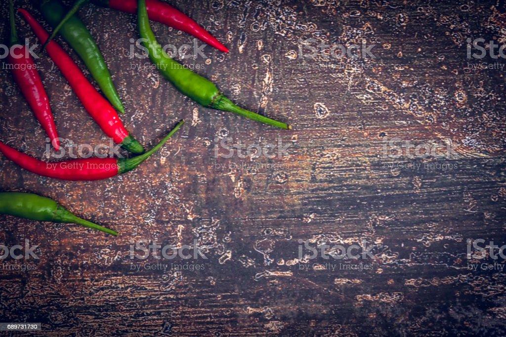 Fresh Organic Red and Green Chili Pepper stock photo