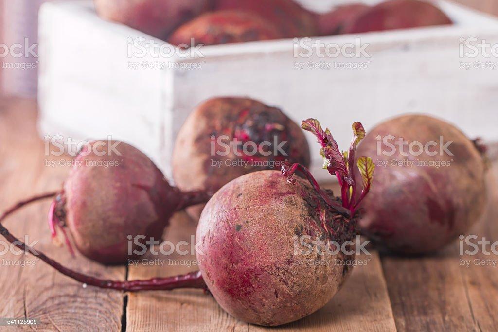 Fresh organic red beets stock photo