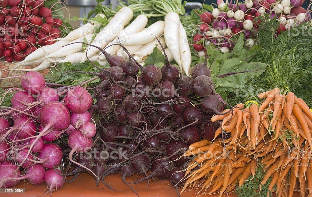 Fresh Organic Root Vegetables stock photo