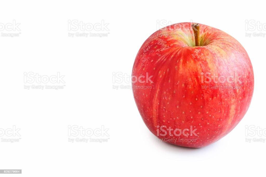 Fresh Organic Royal Gala Apple stock photo