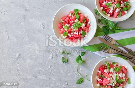 Healthy vegetarian food. Top view. Copy space area.