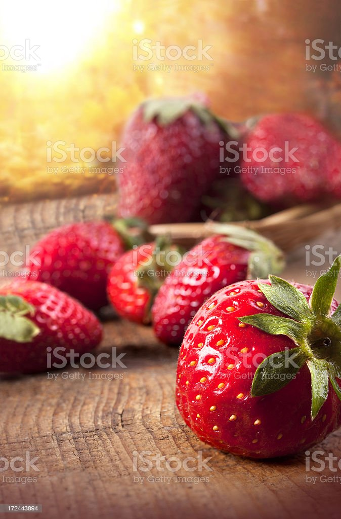 Fresh organic strawberries royalty-free stock photo