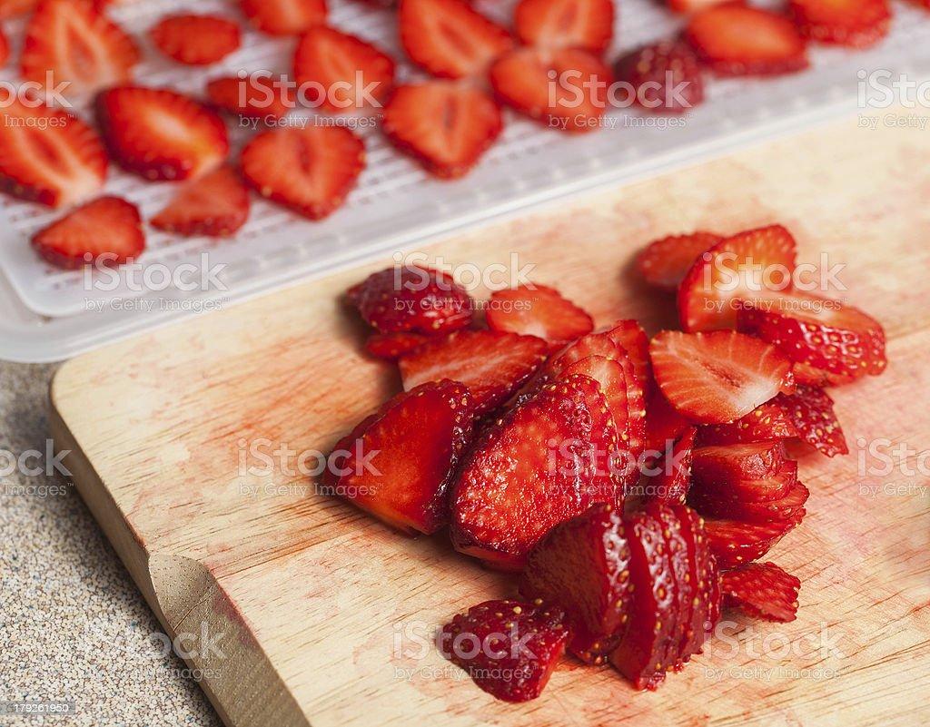 Fresh organic strawberries royalty-free stock photo