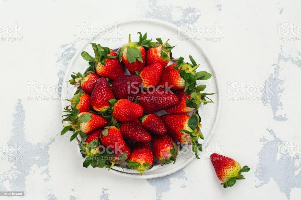 Fresh organic strawberry royalty-free 스톡 사진