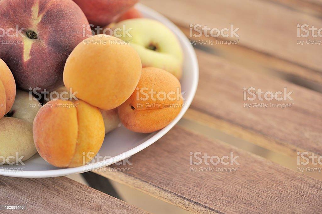 Fresh Organic Summer Fruits Outdoors royalty-free stock photo