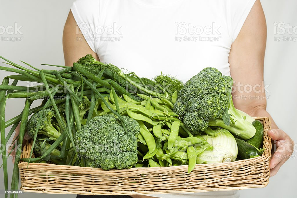 fresh organic summer green vegetables royalty-free stock photo