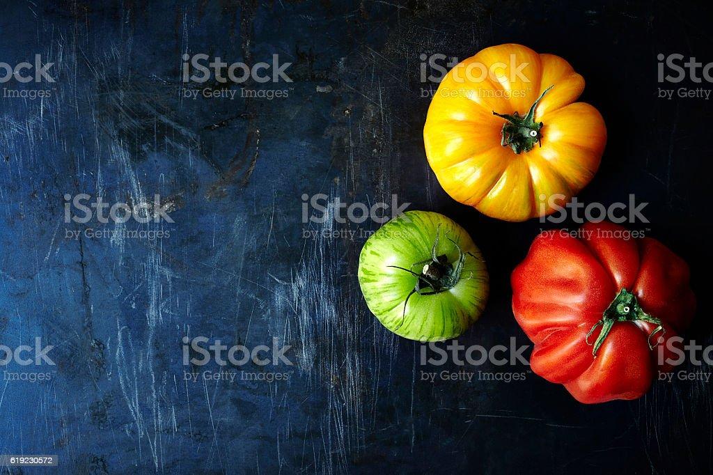 Fresh organic tomatoes stock photo