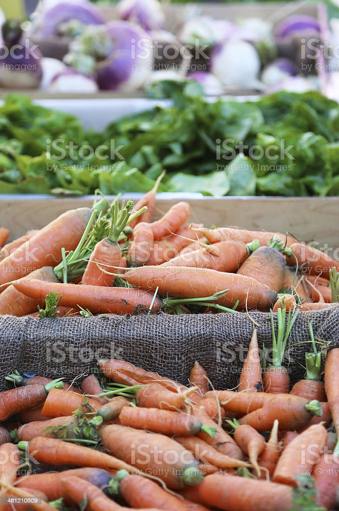 Fresh organic vegetables at farm market royalty-free stock photo
