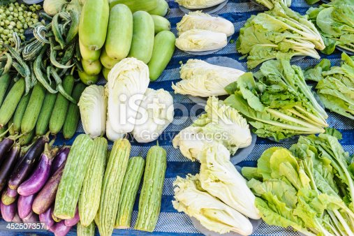istock Fresh organic vegetables on local market. 452507357