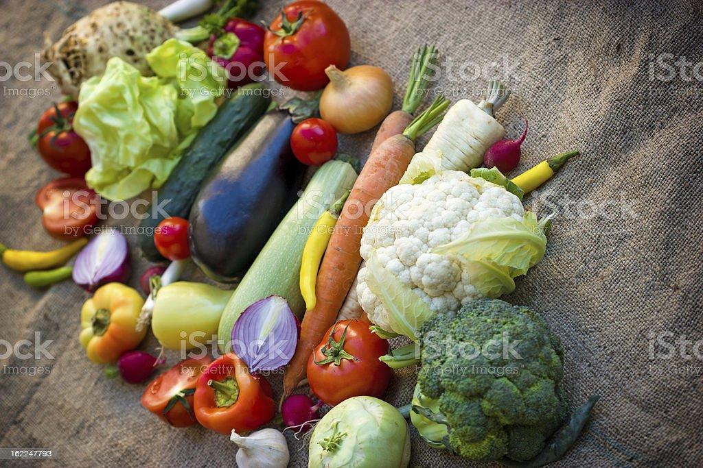 Fresh organic vegetables royalty-free stock photo