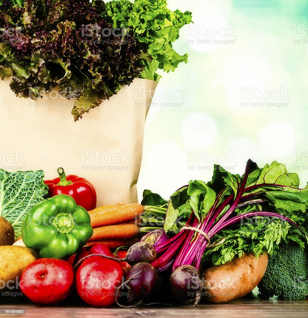 Fresh Organic Vegetables royalty-free stock photo