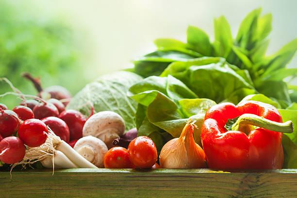 신선한 유기농 야채면 - 농산물 직판장 뉴스 사진 이미지