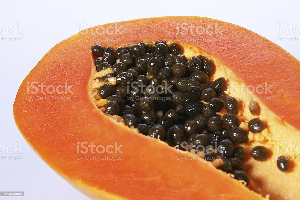 Fresh Papaya close-up royalty-free stock photo
