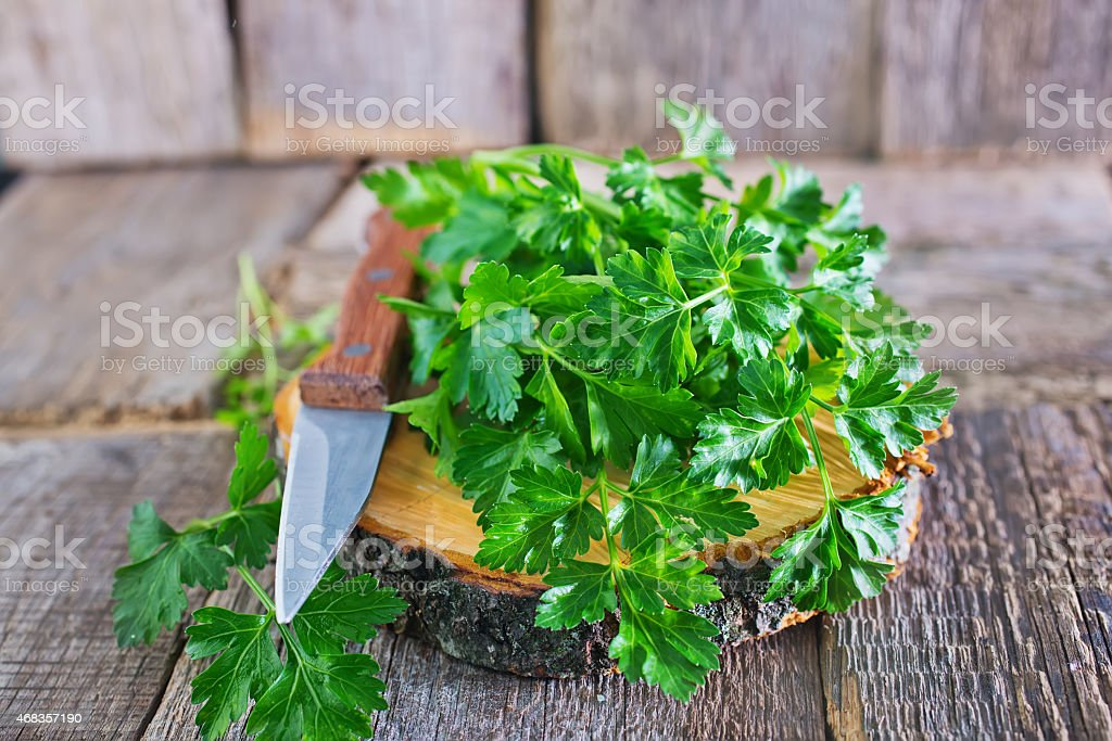 fresh parsley royalty-free stock photo