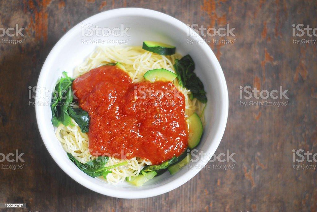 Fresh Pasta Meal royalty-free stock photo