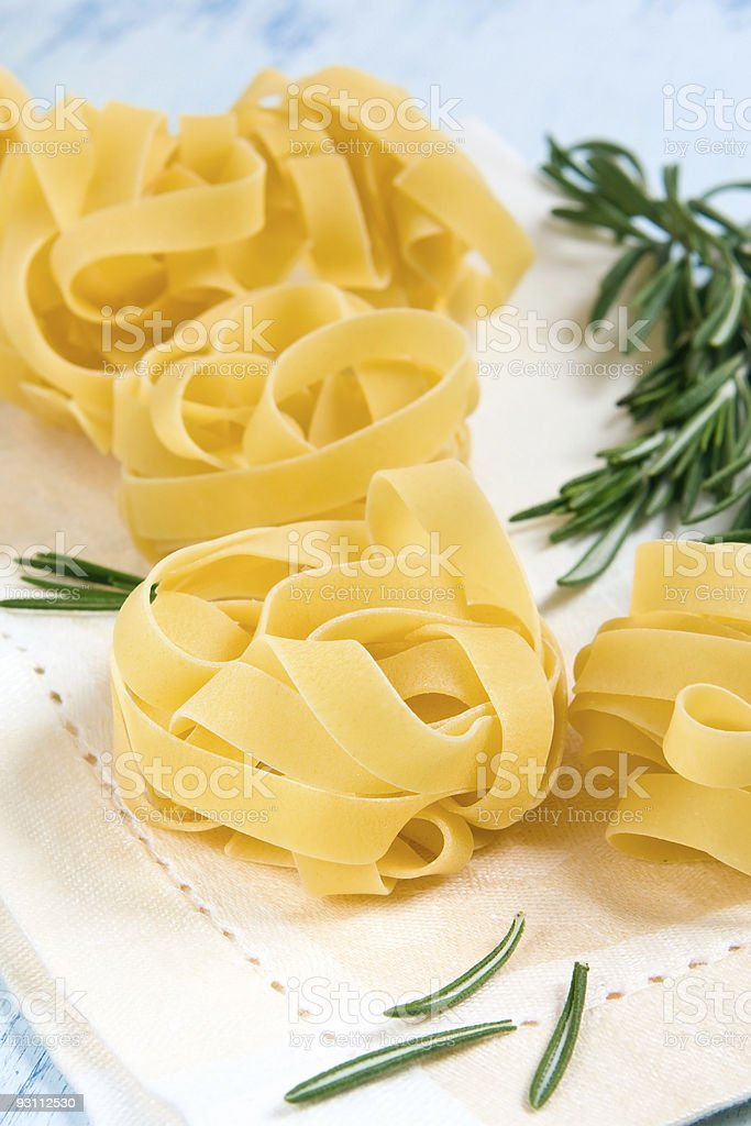Fresh pasta - Royalty-free Beyaz Stok görsel