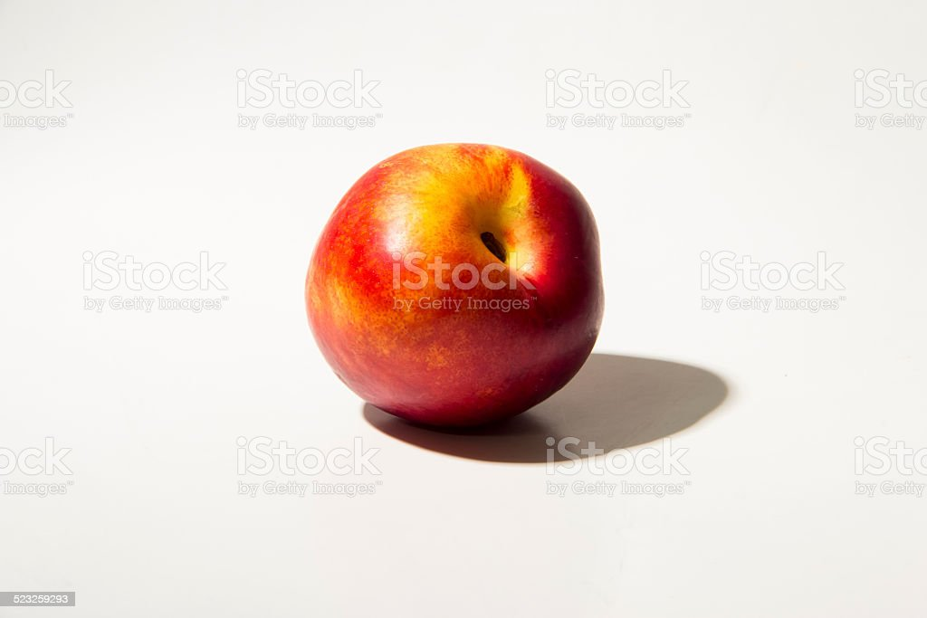 fresh peach fruit stock photo