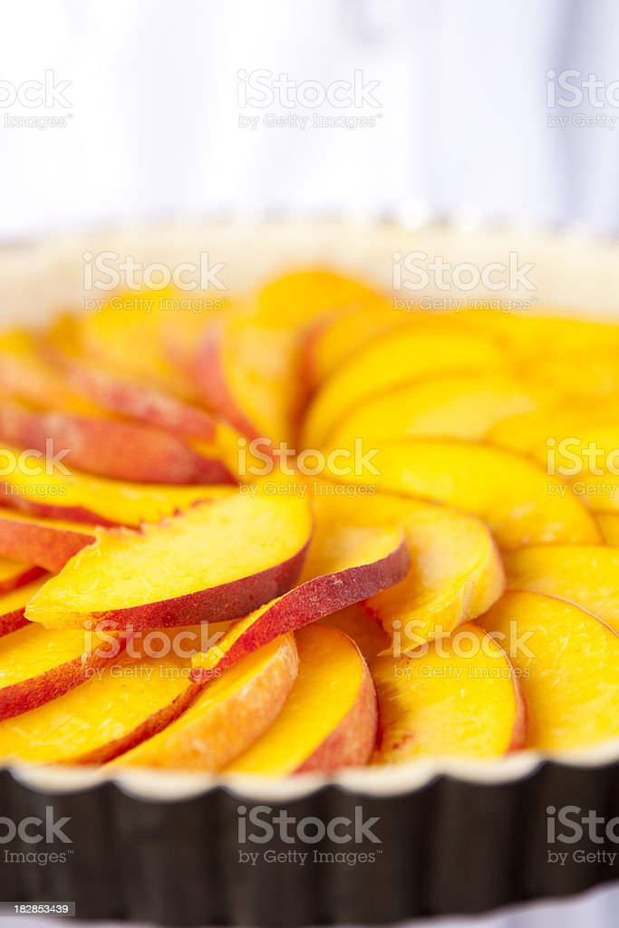 Fresh Peach Tart stock photo